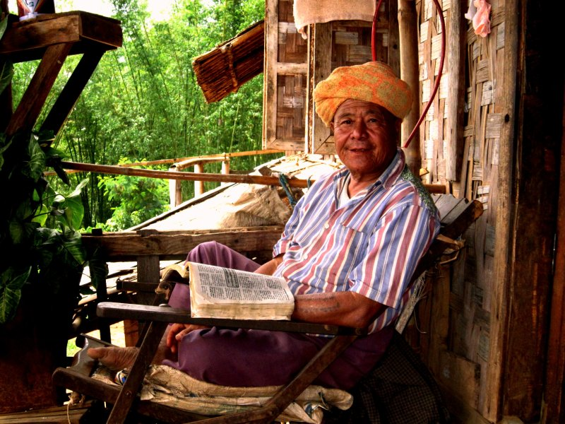 Danu village chief, our host