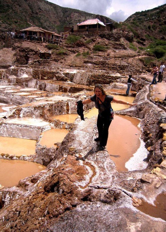 At the Moray salt terraces, trying not to fall off!