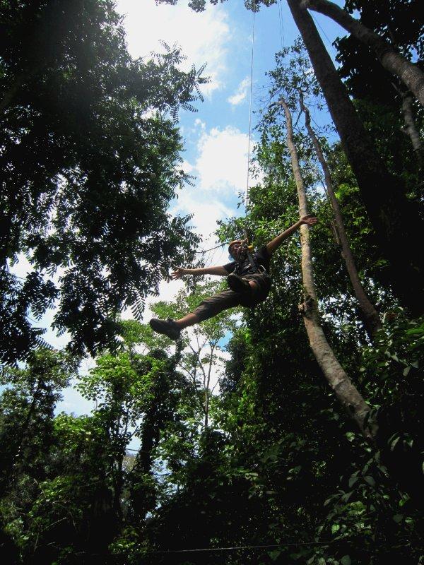 Abseiling through the Thai jungle