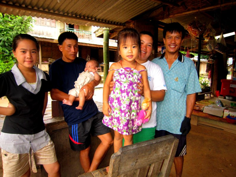 The family in Muang Ngoy