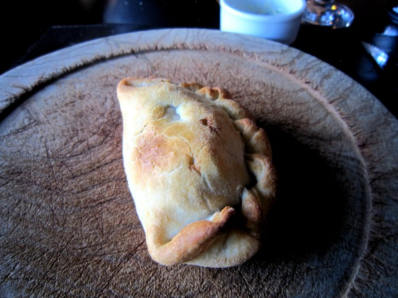warming up with another empanada