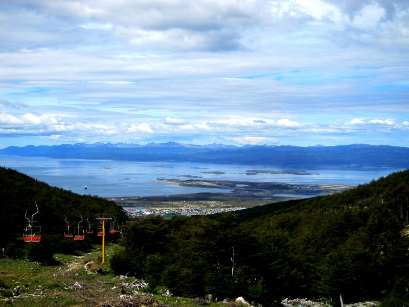 View from Marshall glacier over Beagle channel