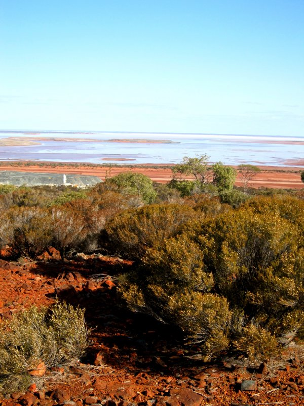 Towards the salt plains, difficult to capture the contrast in a photo