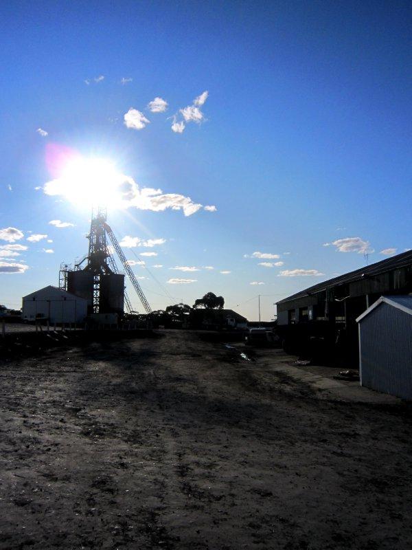 Outside the mine