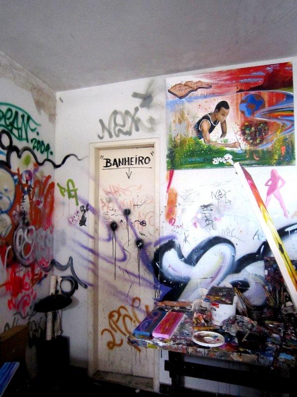 Artist studio in Rocinha favela, Rio