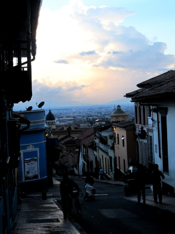 View of Bogota from outside of hostel