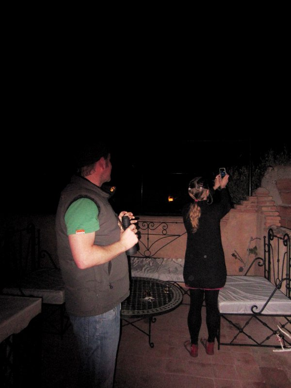 My final night on the road, whiskey and sky gazing on the roof of the riad with Warren and Lenka