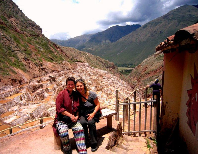 At the Moray Incan salt terraces