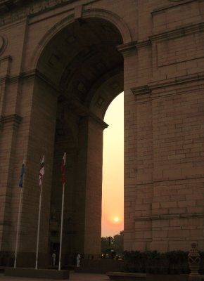 Sunset at India Gate