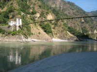 Camping by the Ganges