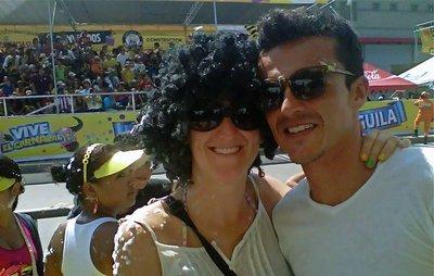 carnival black wig