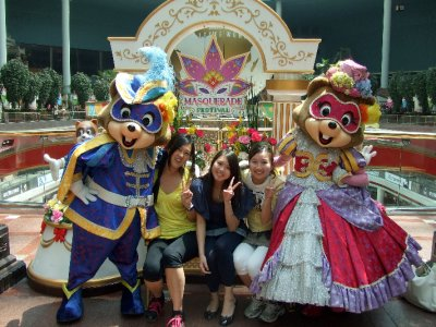 posing at Lotte World