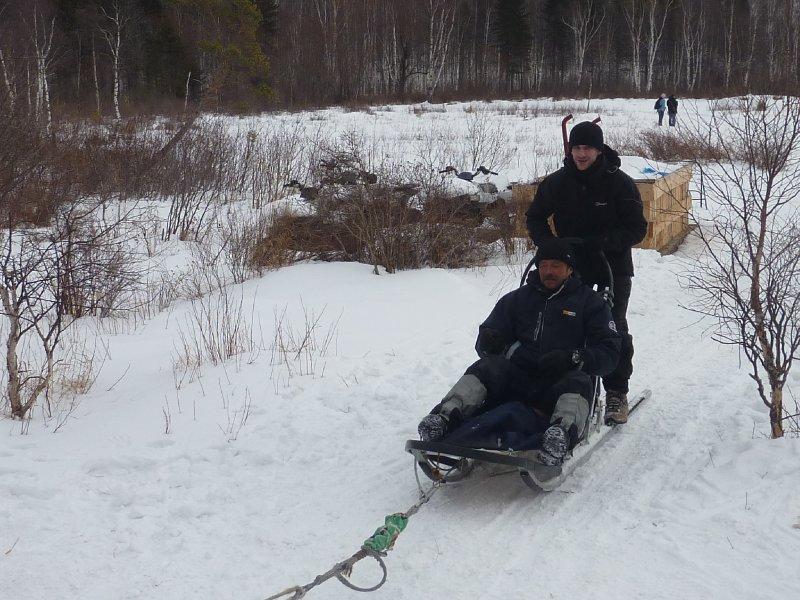 Jon huski sledging