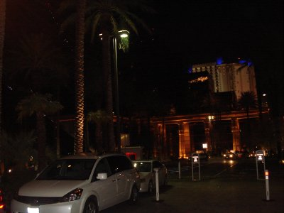 Luxor Hotel at Night