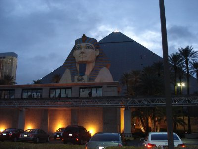 Luxor Pyramid Hotel and Sphinx