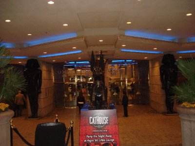 Statues of Anubis and Pharaohs at the Luxor