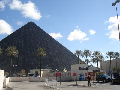 Luxor Hotel from the back parking