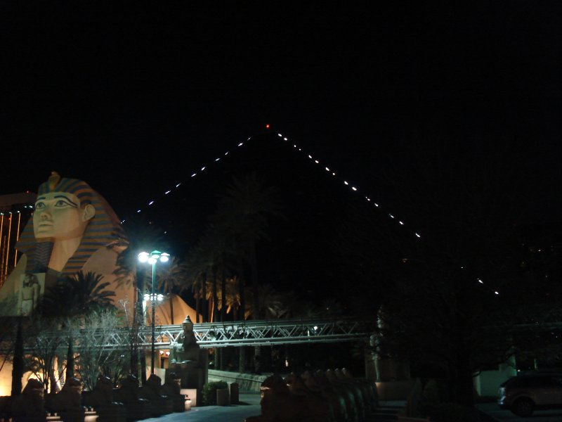 Luxor Hotel at Night