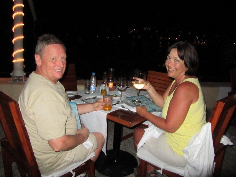 Dan and Kathy in Zihuatanejo