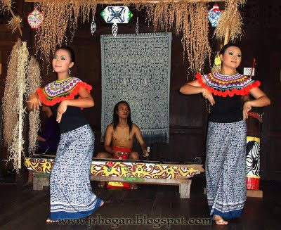 Iban dancing girls