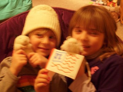 Madison and Shannon getting ready for Olympic fun.