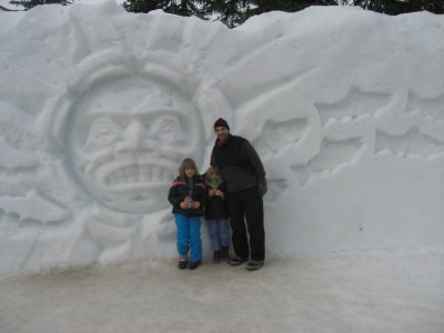 Cool snow sculpture...literally