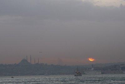 hazy Istanbul