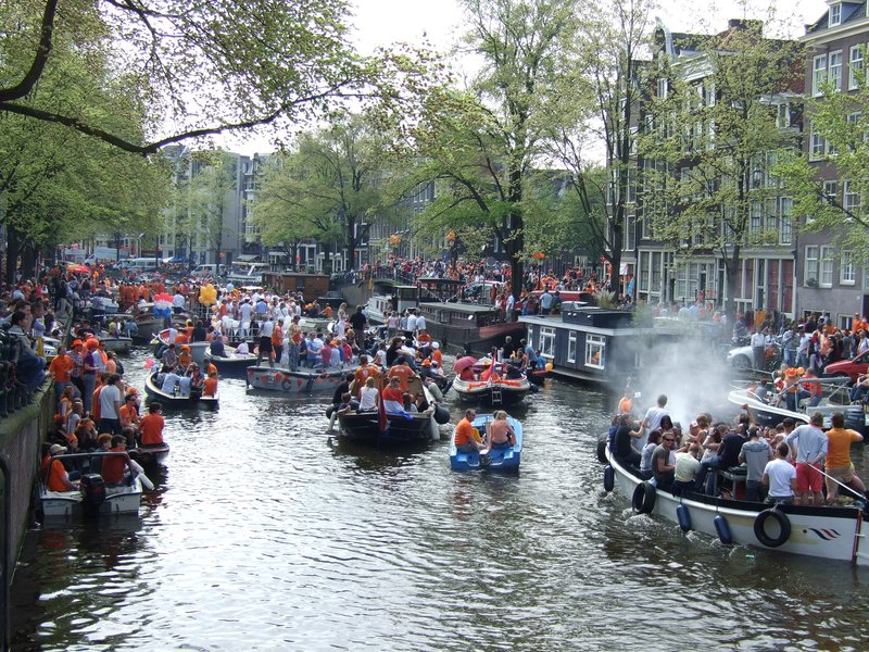 Queen's Day celebrations in Amsterdam