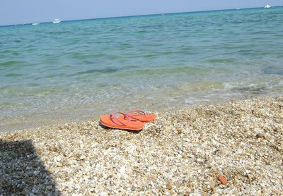 Flipflops on the shore