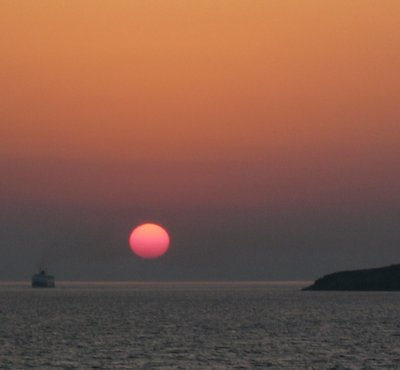Sunset at Greece