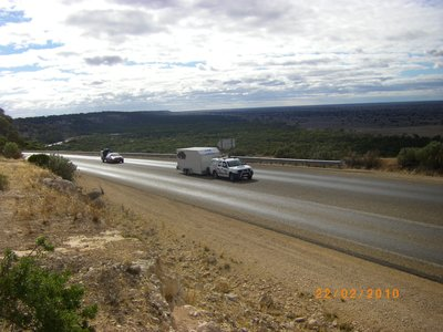 Pass from  Nullabor Plain to the Hampton Ranges at Madura