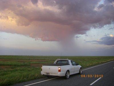Sunrise Storm on Menindee/Broken Hill Road