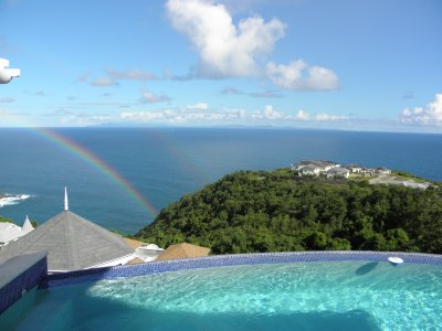 Rainbow at St. Lucia