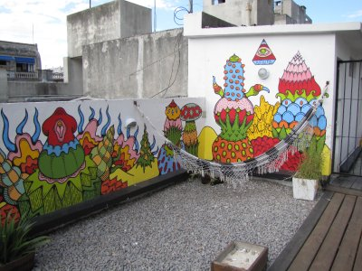 El Viajero hostel rooftop terrace