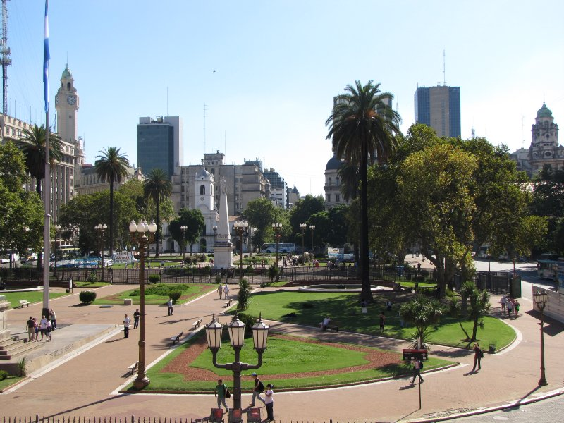 Plaza de Mayo, view from La Casa Rosada