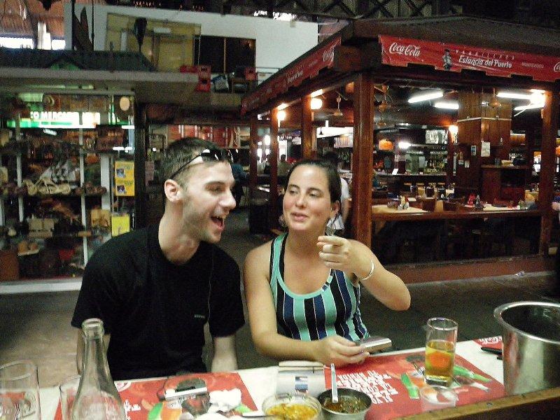 Maria and I, a tidsy bit tipsy