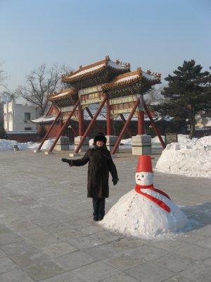 櫺星門, snowman and Mama