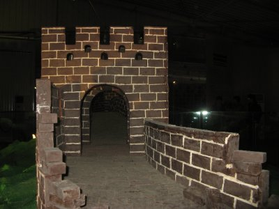 The third Great Wall we saw was made of chocolate =(