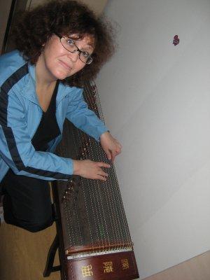 Mom playing guzheng 2