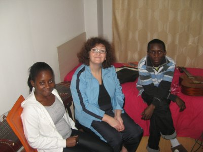 With new Ghanaian friends
