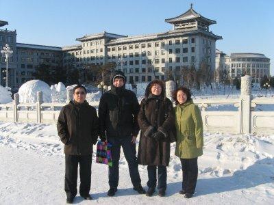 My supervisor, me, mom, 陈岩