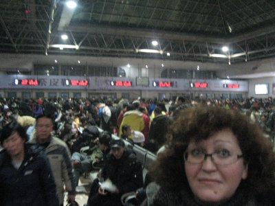 Crowded rail station in Harbin