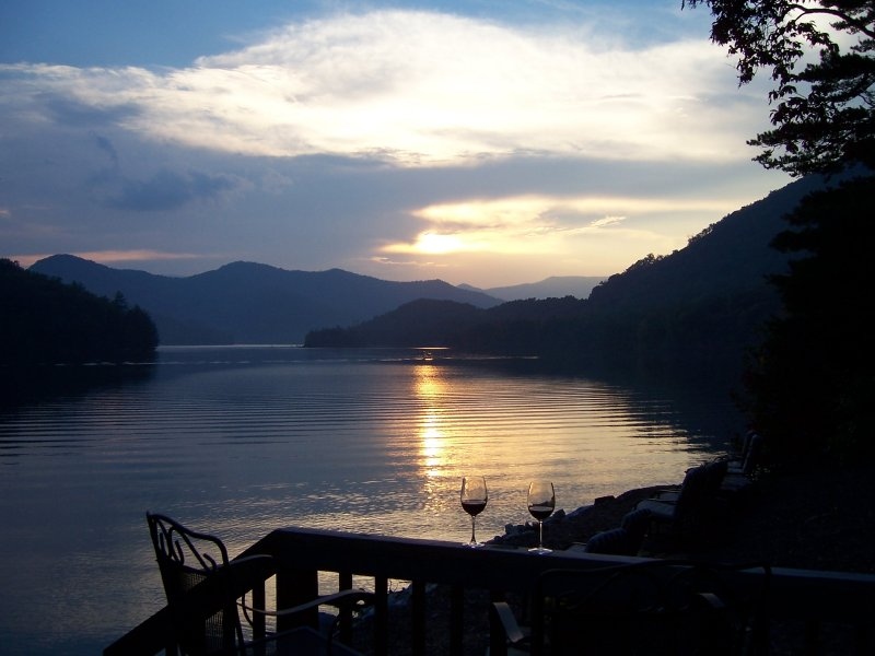 Sunsets on Lake Santeetlah
