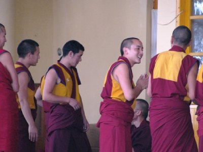 Monks laugh