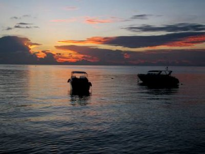 Sunset over the Andaman Sea...