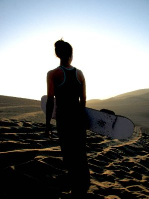 Sunset Sandboarding