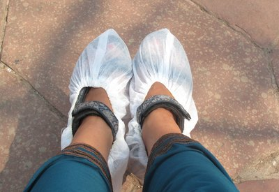 My feet at Taj MAhal