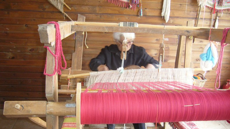 greek woman weaving