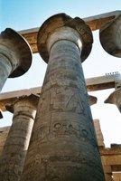 Lotus column at Karnak Temple