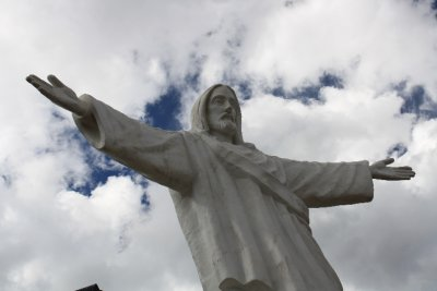 White Christ donated by thankful Palestinian immigrants